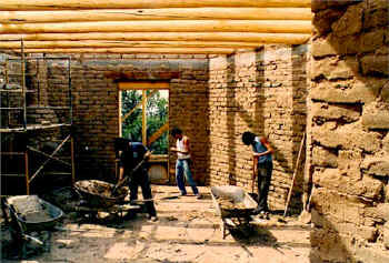 Authentic Adobe Brick Construction